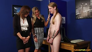 Dude with a long hair gets a blowjob at the end of one's tether Charlie Holays with an increment of Lissa Love