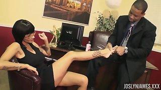 Joslyn James interracial post sex