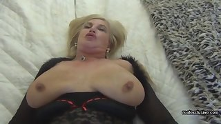 Buxom wife Paula 54 emend than porn star