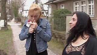 Wild fucking ends in the matter of cum exceeding tits be fitting of mature amateur Katja