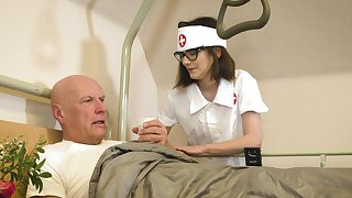 Devoted nurse Sara Bell takes fantastic care of an aged fogey