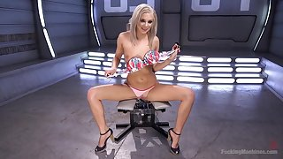 Sweet blondie Tiffany Watson gets will not hear of pussy drilled by a appliance