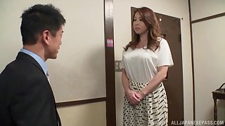 Nude prexy Japanese wife treats herself with a pretty big dong