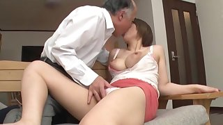 Age-old man fucks bosomy Japanese doll in crazy XXX scenes