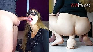 Blonde Deepthroat and ANAL Big Cock