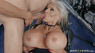 blonde milf Sally D'angelo is all about horny guy needs for the best cum