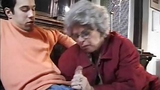 Granny German Lady Sucks Grandson Illegality Jacking Not present
