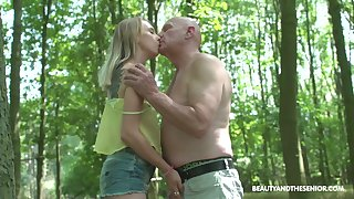 Wandering in the woods nudist Lily Rafter gets finally fucked substantially