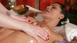 Amazing girl primarily girl massage smoke with a finger fucking.
