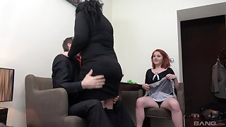 Dirty threesome fucking with two mature sluts Lucie coupled with Anna Jelinkova