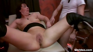 Slutty wife and her best friend get fucked by a come up to b become of dudes